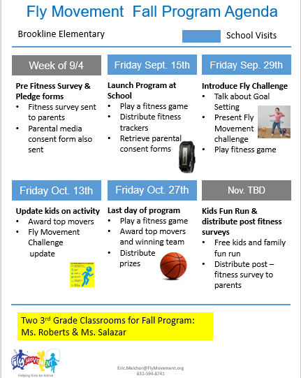 kids fitness program agenda